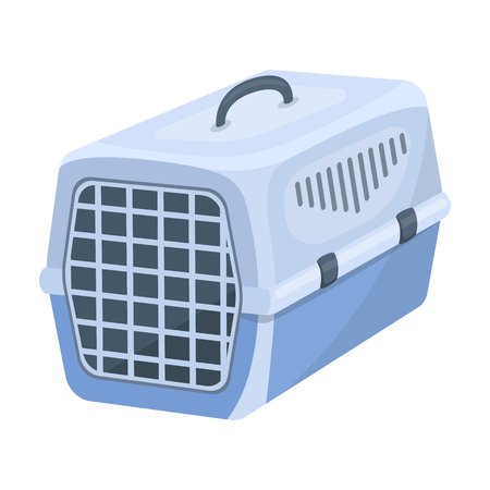 Container for animals.Pet shop single icon in cartoon style rater,bitmap symbol stock illustration web.