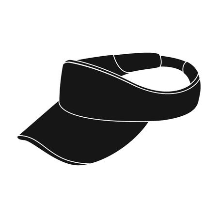 Golfers headdress.Golf club single icon in black style vector symbol stock illustration web.