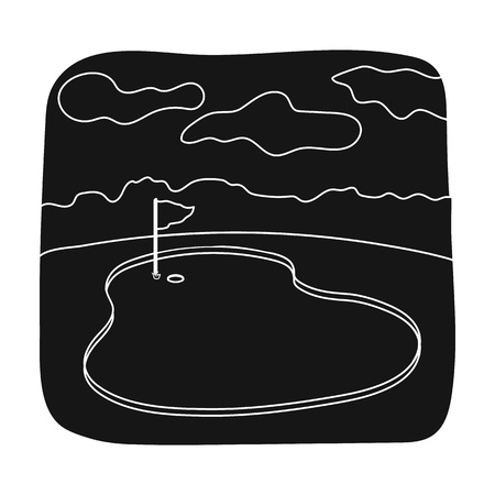 Golf course.Golf club single icon in black style vector symbol stock illustration web.