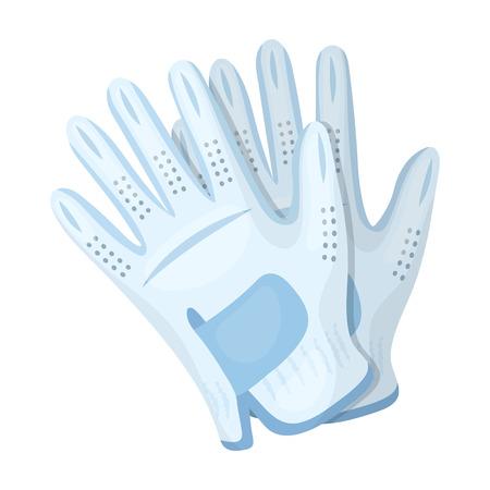 Golf gloves.Golf club single icon in cartoon style vector symbol stock illustration web.