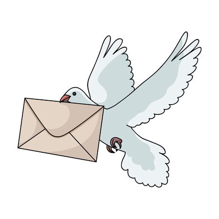 Post pigeon.Mail and postman single icon in cartoon style vector symbol stock illustration web.
