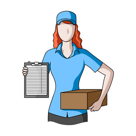 Postal courier.Mail and postman single icon in cartoon style vector symbol stock illustration web. Illustration