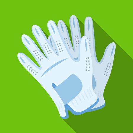 Golf gloves.Golf club single icon in flat style vector symbol stock illustration web.