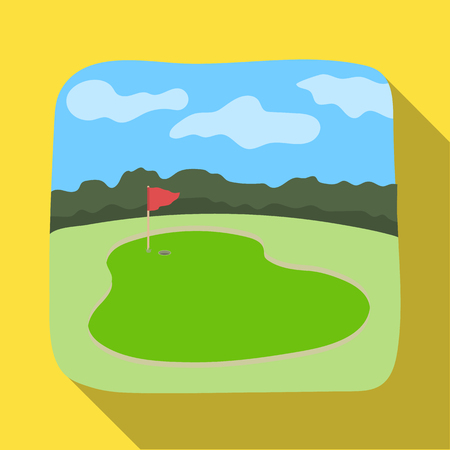 Golf course.Golf club single icon in flat style vector symbol stock illustration web. Иллюстрация
