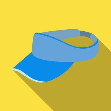 Golfers headdrGolfers headdressess.Golf club single icon in flat style vector symbol stock illustration .