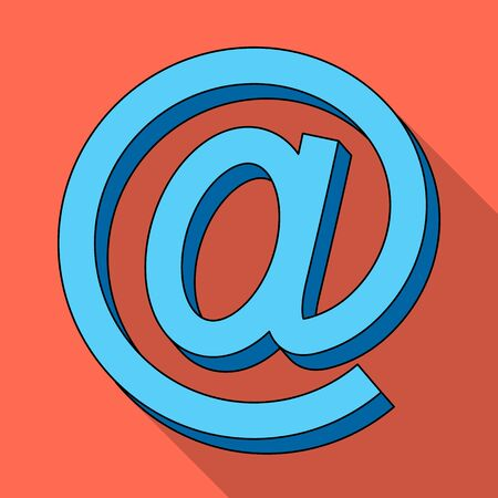 Email symbol.Mail and postman single icon in flat style vector symbol stock illustration .