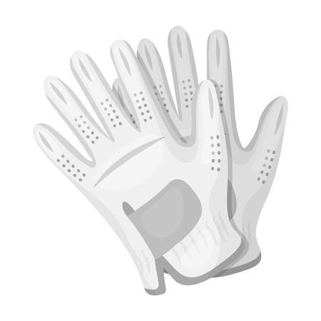 Golf gloves.Golf club single icon in monochrome style vector symbol stock illustration .