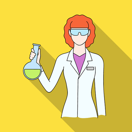 Chemist.Professions single icon in flat style vector symbol stock illustration web.