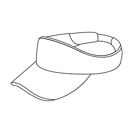 peak hat: Golfers headdress.Golf club single icon in outline style vector symbol stock illustration web. Illustration