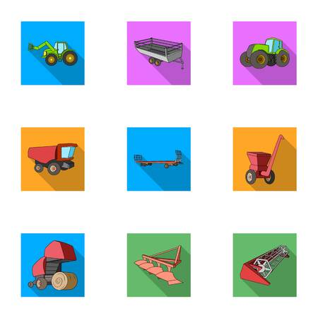 Agricultural icon in set collection on flat style vector symbol stock illustration.