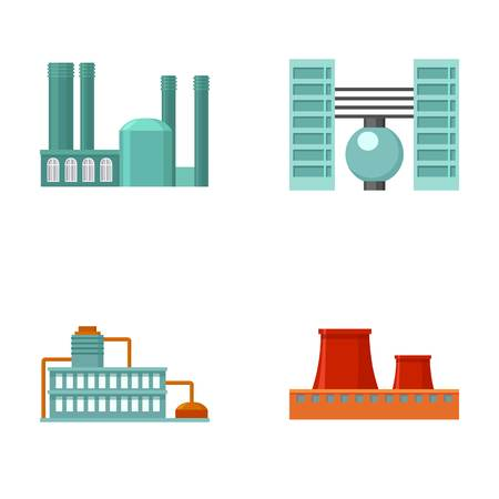Industry, production.Factory set collection icons in cartoon style vector symbol stock illustration web. Ilustração