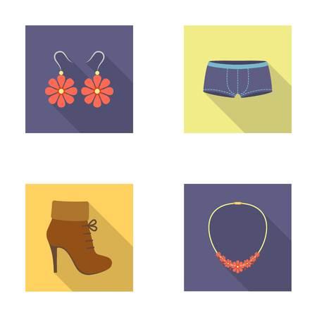 Vêtements set collection icônes dans le style plat vecteur symbole stock illustration web Banque d'images - 78267887
