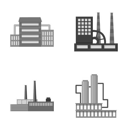 Industry, production.Factory set collection icons in monochrome style vector symbol stock illustration web.