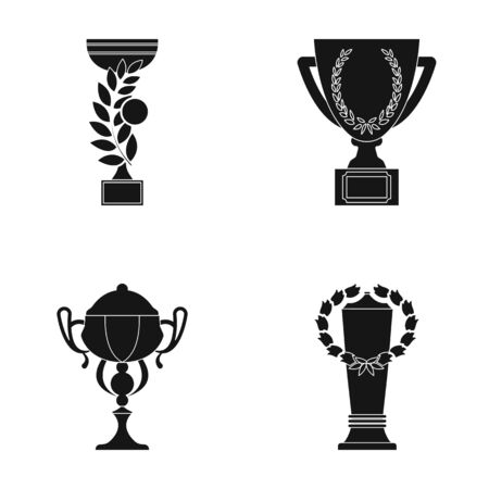 award winning: Cup. Winner cup set collection icons in black style vector symbol stock illustration web.