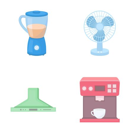 blender: Blender, extractor and other equipment.Household set collection icons in cartoon style vector symbol stock illustration web.
