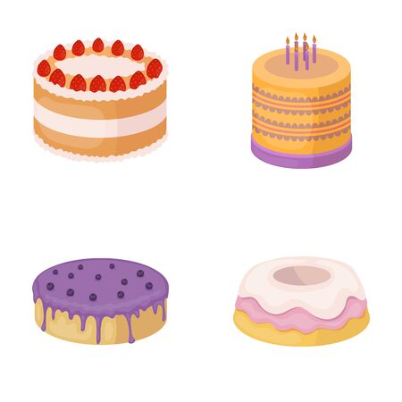 treacle: Sweetness, dessert, cream, treacle .Cakes country set collection icons in cartoon style vector symbol stock illustration web.