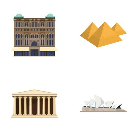 interesting: Building, interesting, place, palace .Countries country set collection icons in cartoon style vector symbol stock illustration web. Illustration