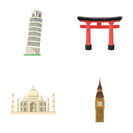 interesting: Building, interesting, place, tower .Countries country set collection icons in cartoon style vector symbol stock illustration web.