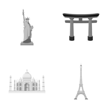 interesting: Building, interesting, place, tower .Countries country set collection icons in monochrome style vector symbol stock illustration web. Stock Photo