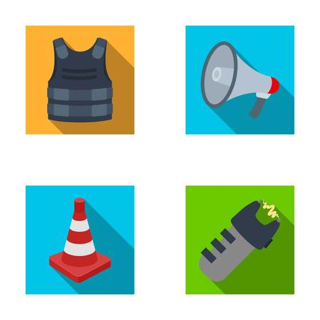 Police set collection icons in flat style vector symbol stock illustration