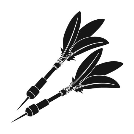 Darts for the wind gun.African safari single icon in black style vector symbol stock illustration web.