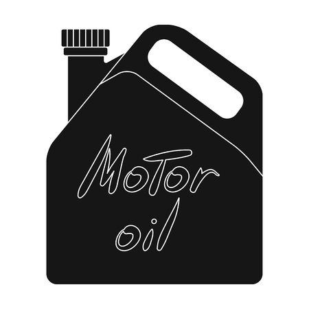 Can Of Engine Oilr Single Icon In Black Style Vector Symbol