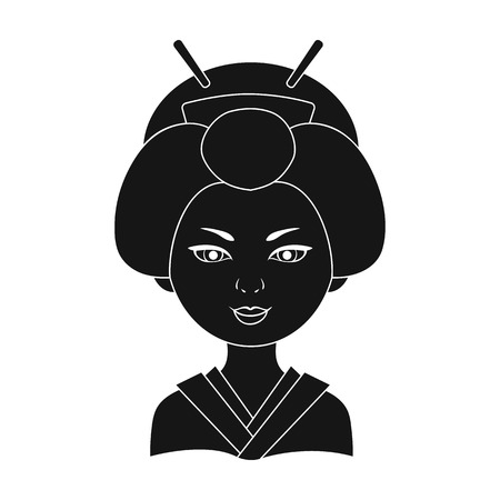 Japanese.Human race single icon in black style vector symbol stock illustration web.
