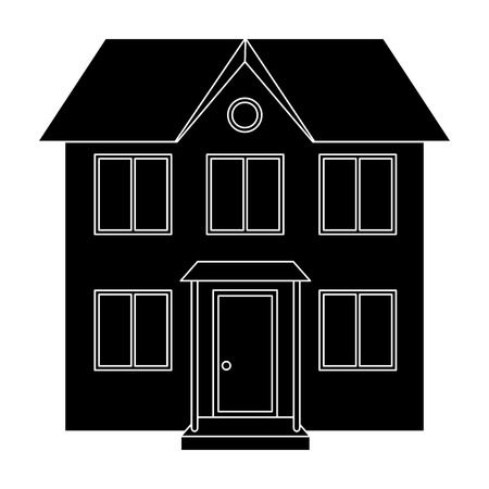 Private cottage.Realtor single icon in black style vector symbol stock illustration web.