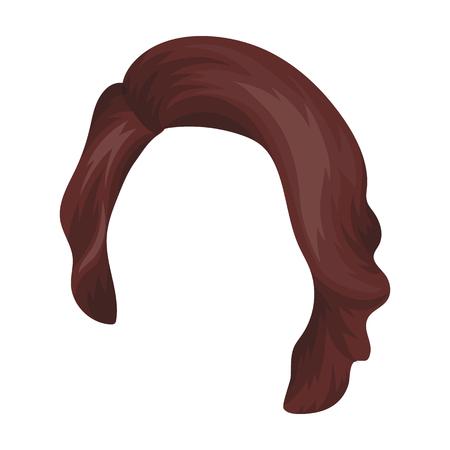 Dark short.Back hairstyle single icon in cartoon style vector symbol stock illustration web. Illustration