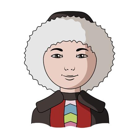 Eskimo.Human course seule icône dans le style de bande dessinée vecteur stock symbole stock web. Banque d'images - 79550487