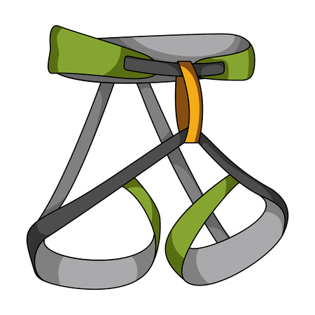 strapping: Climbing strapping, insurance.Mountaineering single icon in cartoon style vector symbol stock illustration web.