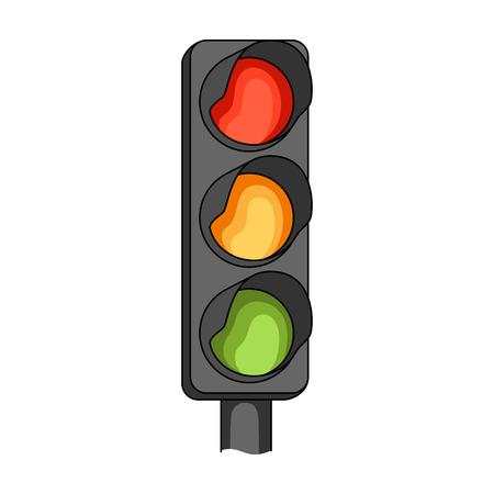 Traffic light for vehicles.Car single icon in cartoon style vector symbol stock illustration web. Illustration