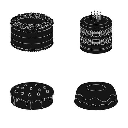 treacle: Sweetness, dessert, cream, treacle .Cakes country set collection icons in black style vector symbol stock illustration web.