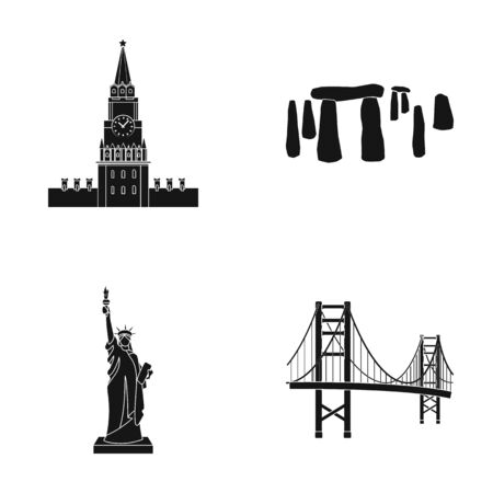 interesting: Building, interesting, place, coliseum .Countries country set collection icons in black style vector symbol stock illustration web.
