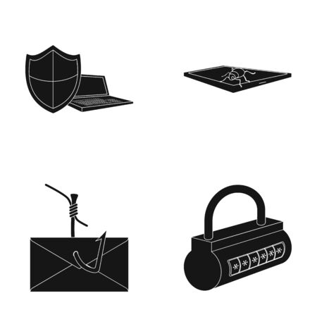 Hacker, system, connection .Hackers and hacking set collection icons in black style vector symbol stock illustration web.