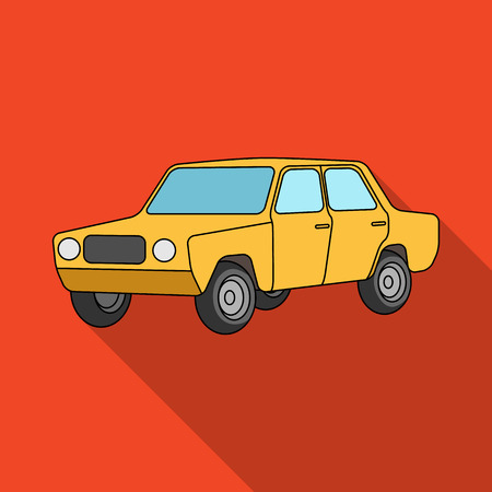 Old car.Car single icon in flat style vector symbol stock illustration web.