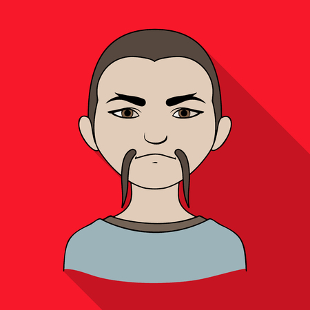 the appearance: Chinese.Human race single icon in flat style vector symbol stock illustration web.