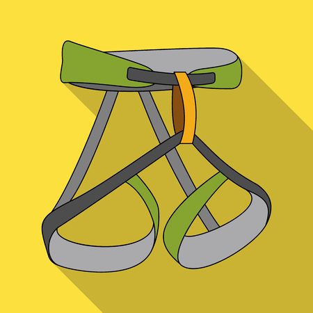 Climbing strapping, insurance.Mountaineering single icon in flat style vector symbol stock illustration web.