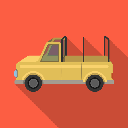 flatcar: Machine for safari.African safari single icon in flat style vector symbol stock illustration web.