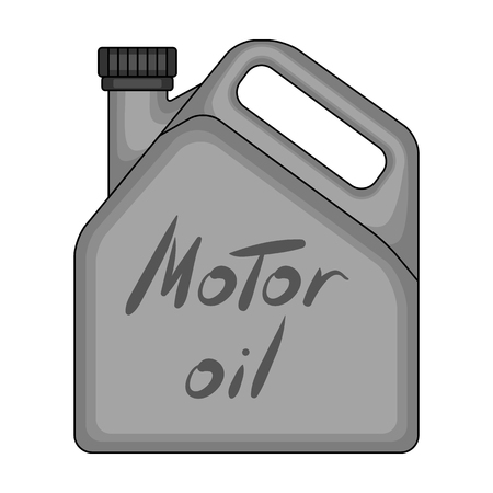 Can Of Engine Oilr Single Icon In Monochrome Style Vector