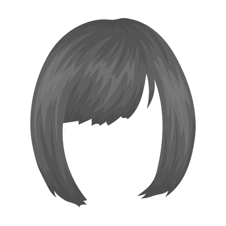 Square.Back hairstyle single icon in monochrome style.
