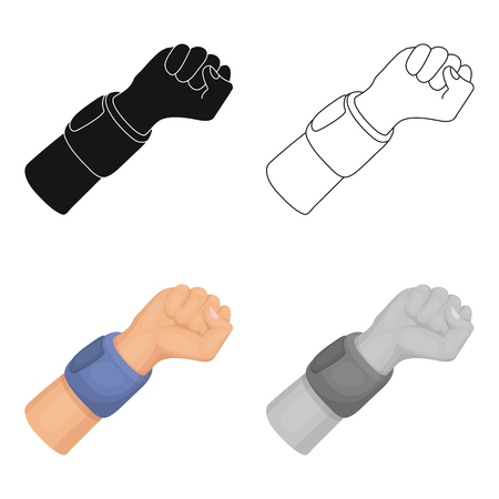 Arm with bandage.Basketball single icon in cartoon style vector symbol stock illustration web.