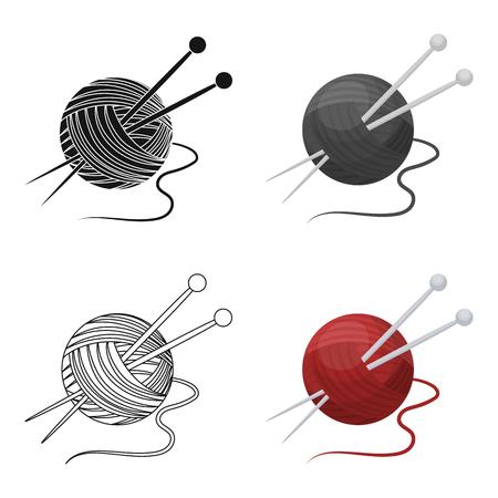 Knitting.Old unique icône en stock style cartoon vecteur symbole stock web.