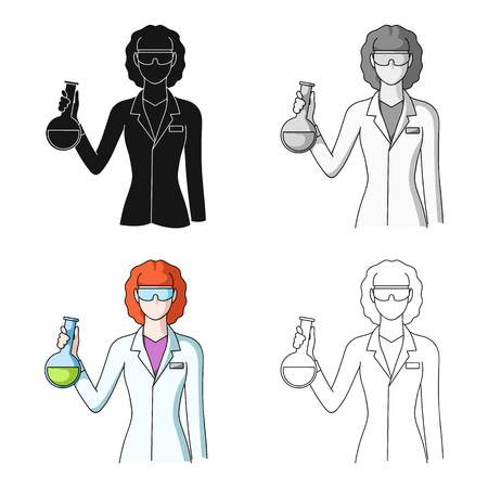 Chemist.Professions single icon in cartoon style vector symbol stock illustration web. Illustration