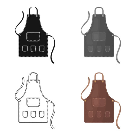 Apron of a hairdresser with pockets.Barbershop single icon in cartoon style vector symbol stock illustration web. Ilustração