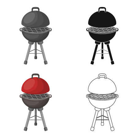 Grill for barbecue.BBQ single icon in cartoon style vector symbol stock illustration web. Illustration