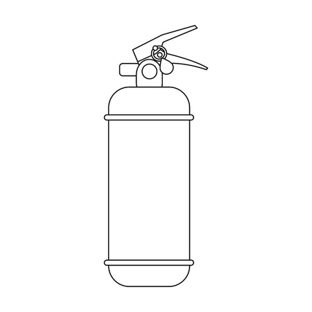 Fire Extinguisher Powder Car Single Icon In Outline Style Vector