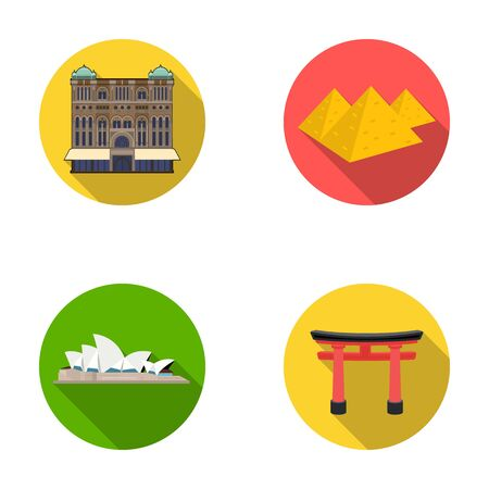 interesting: Building, interesting, place, palace .Countries country set collection icons in flat style vector symbol stock illustration web.