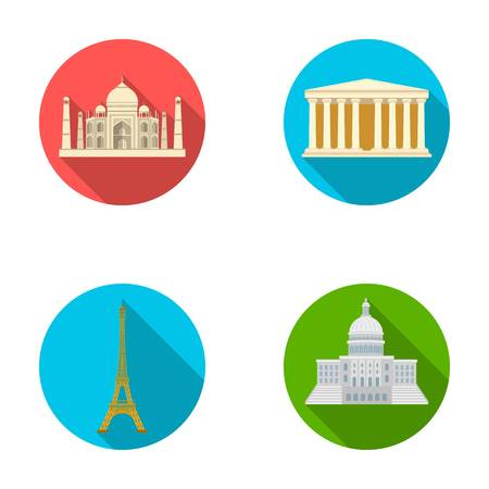 interesting: Building, interesting, place, tower .Countries country set collection icons in flat style vector symbol stock illustration web.