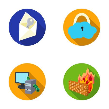 System, internet, connection, code .Hackers and hacking set collection icons in flat style vector symbol stock illustration web.